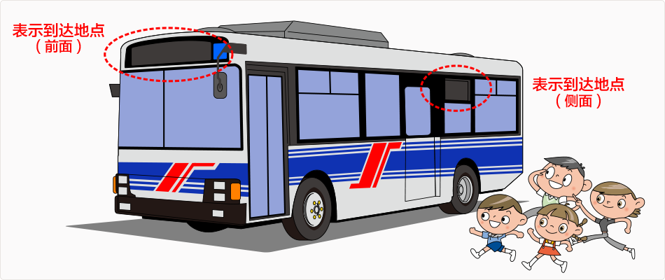 确认巴士的到达地点
