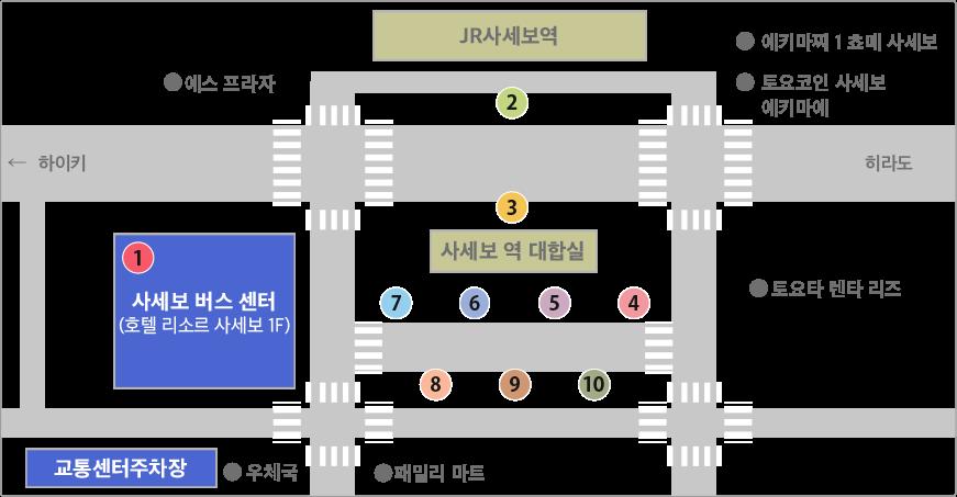 사세보 역 · 사세보 버스 센터